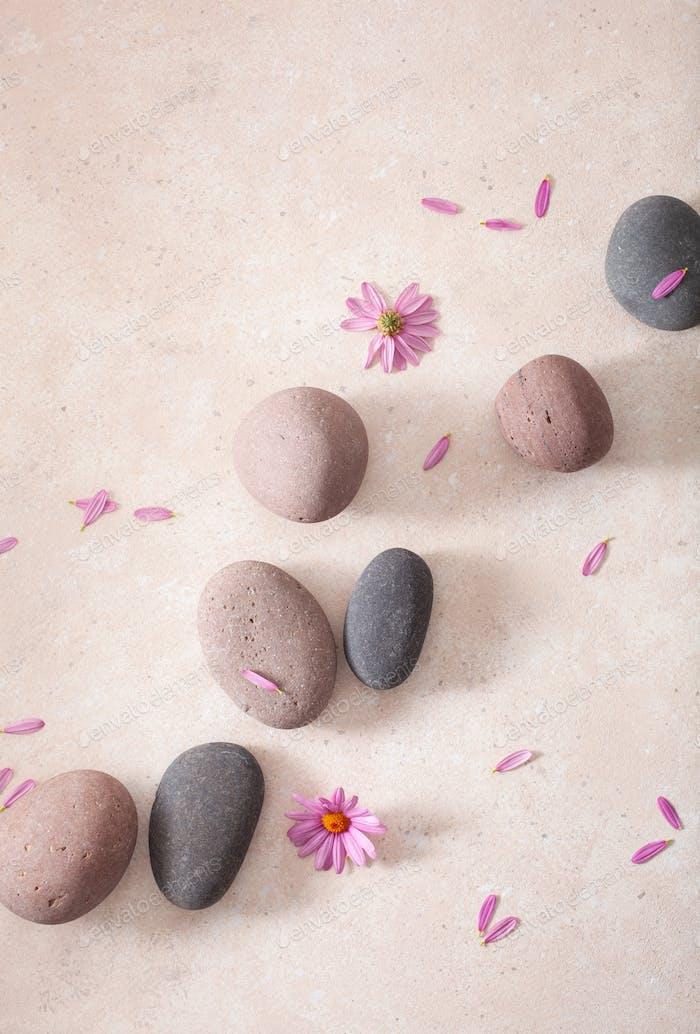 Spa-Steine flach lag Massage Entspannung Behandlung
