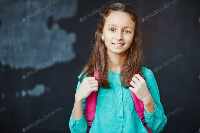 Schoolgirl at school