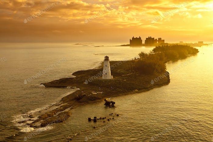 nassau, bahamas, at dawn