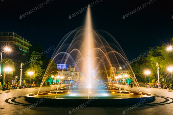Batumi, Adjara, Georgia. Singing And Dancing Fountains Is Local
