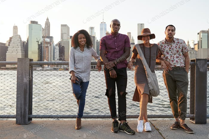 Portrait Of Young Friends On Trip To Manhattan