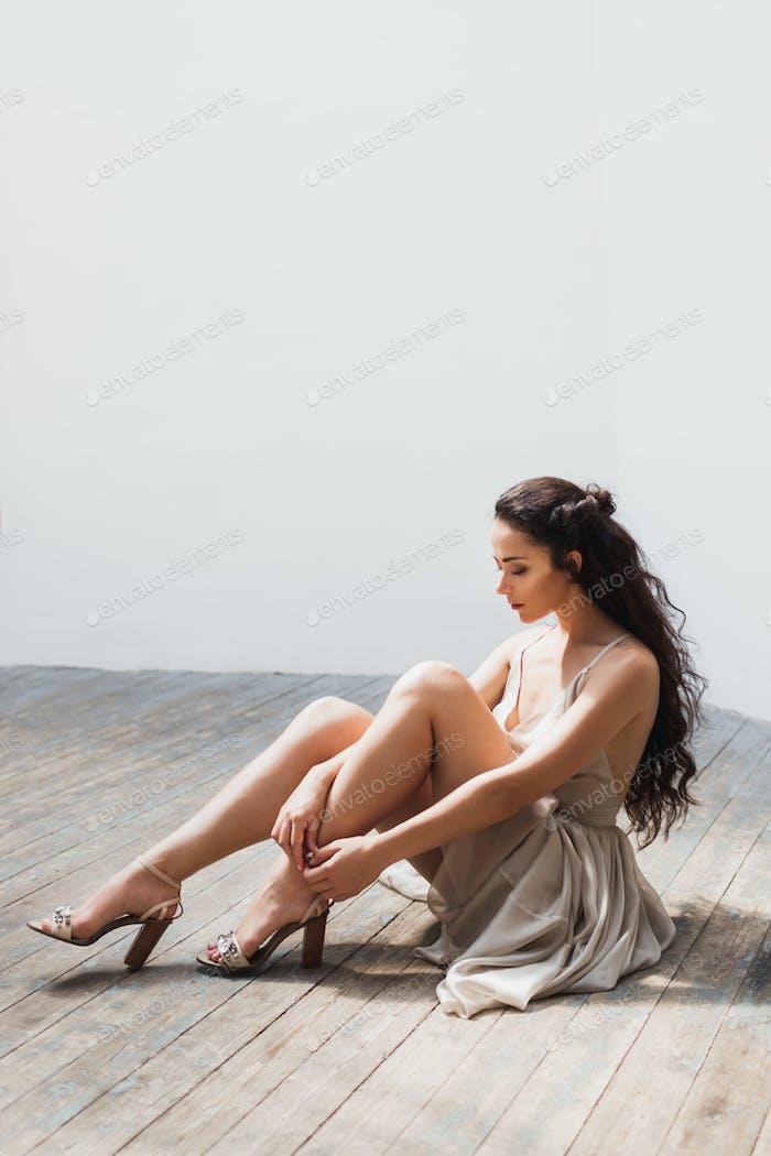 Bride Kleider schöne Schuhe mit Juwelen