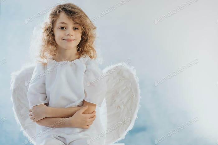 Little angel smiling