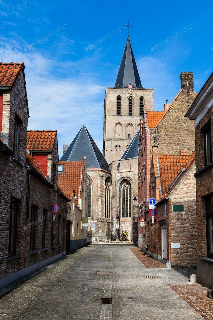 Straße in Brügge (Brügge), Belgien, Europa