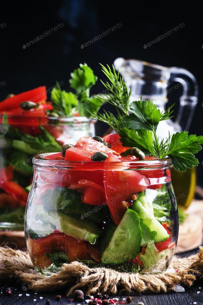 Vegetable vegetarian salad
