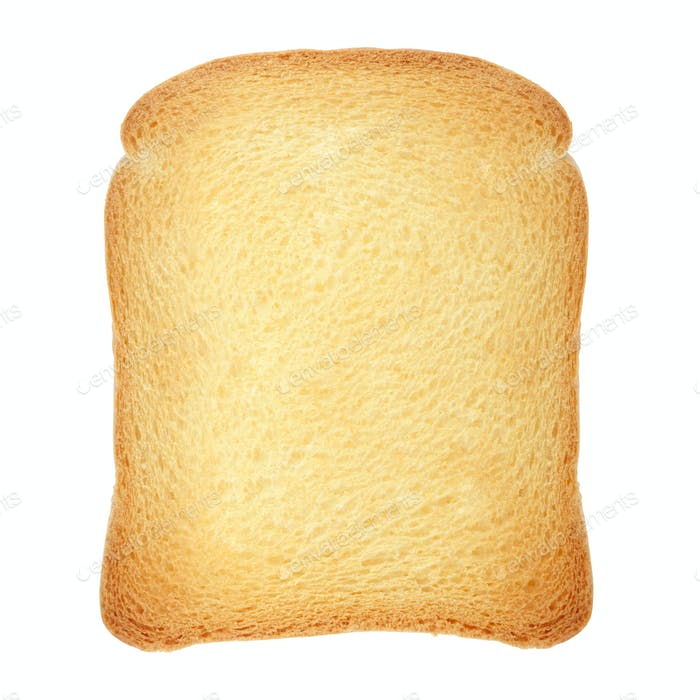 Rusk bread on white, clipping path