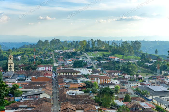 Cityscape of Salento, Colombia