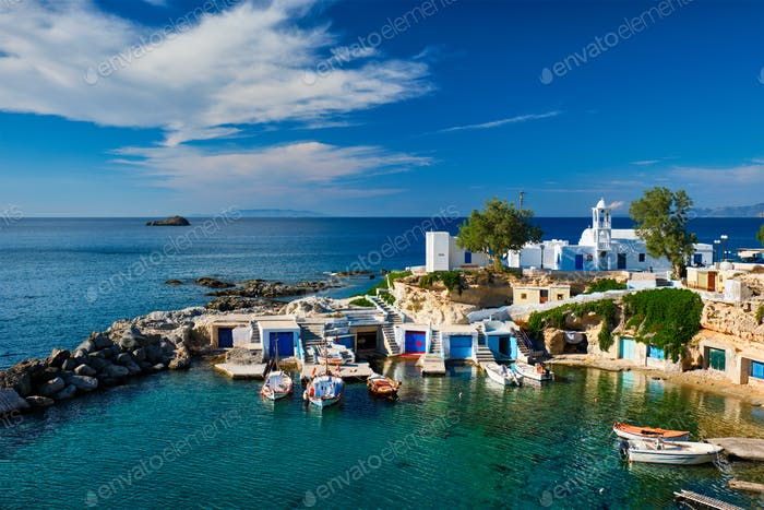 Mandrakia village in Milos island, Greece