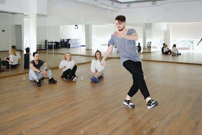 Hip-hop dancer performance