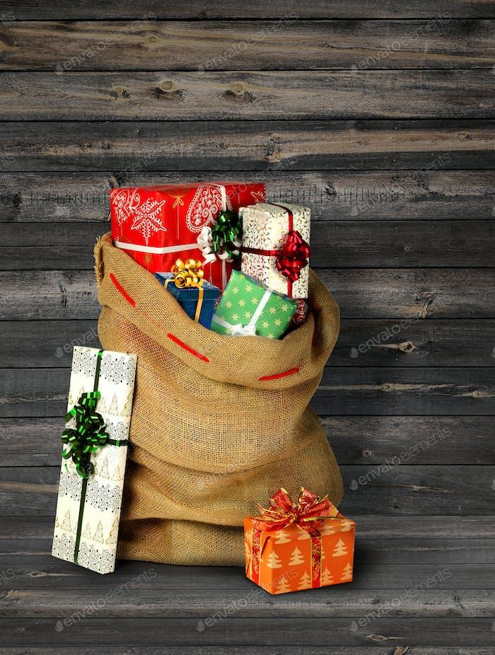 Santas present sack