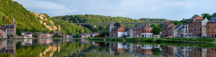 View of picturesque Dinant city. Belgium