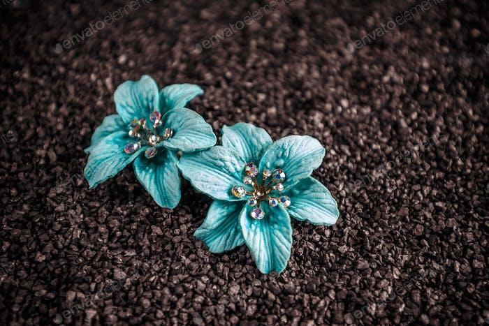 Blue jewellery flowers