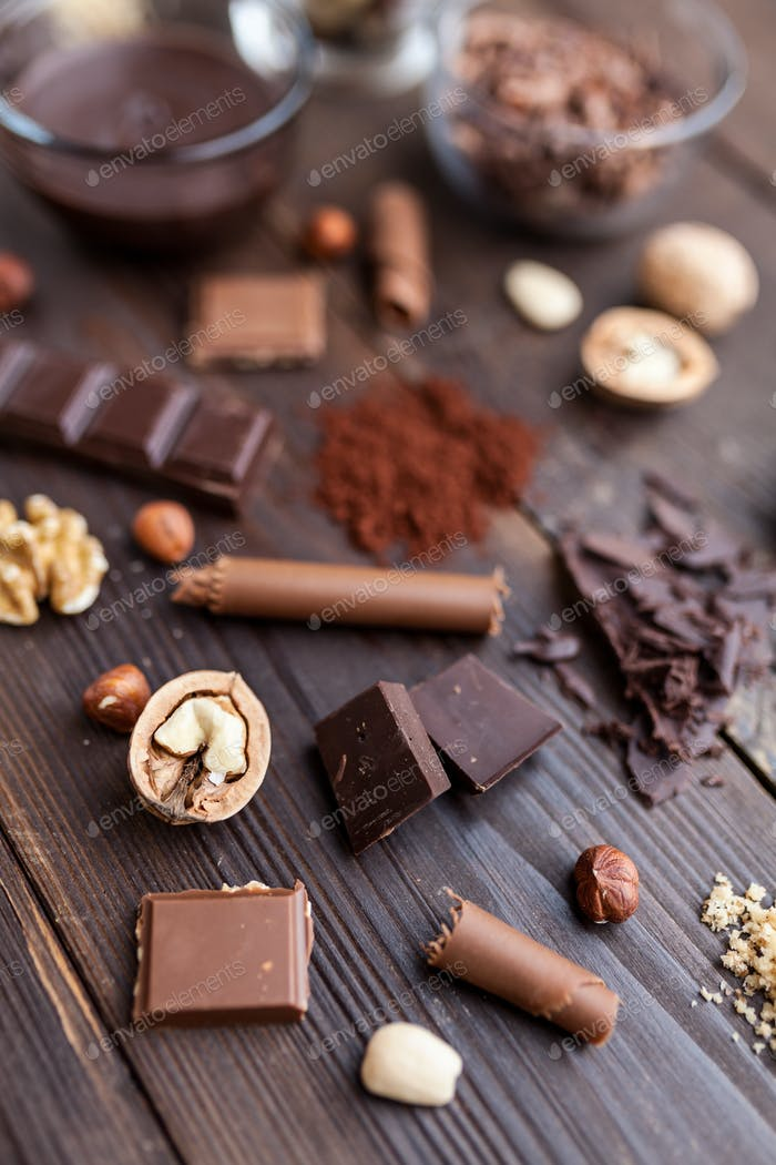 Delicious and tasty chocolate background