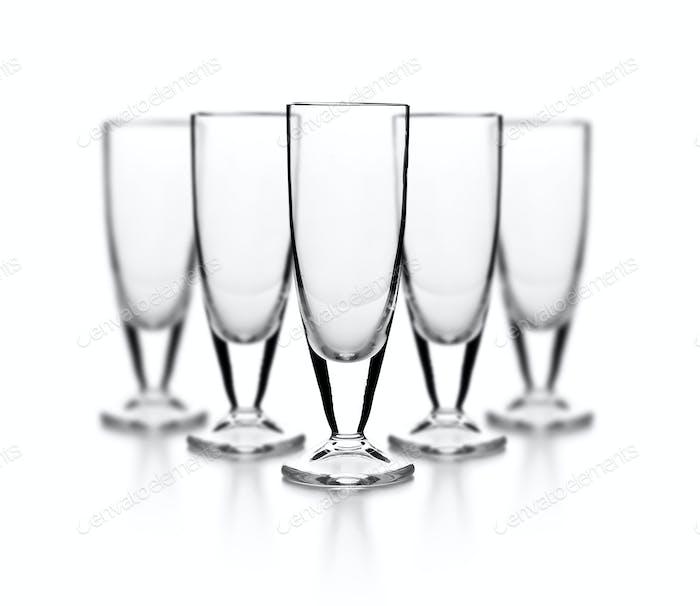 Set of empty glass