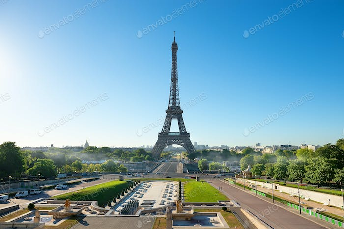 Tall Eiffel tower