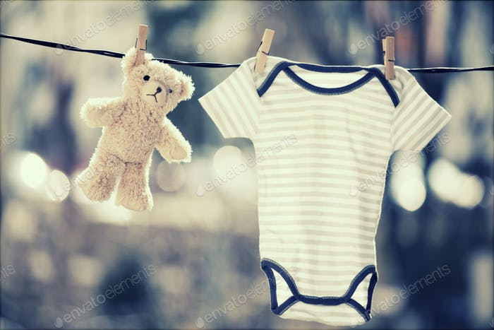 Baby boy body and toy