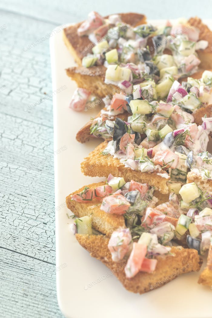 Griechische Pita-Nachos