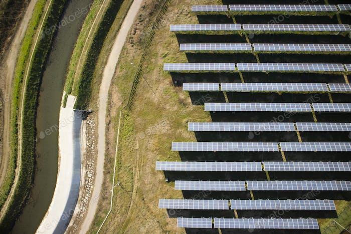 Bereich der Photovoltaik-Paneele