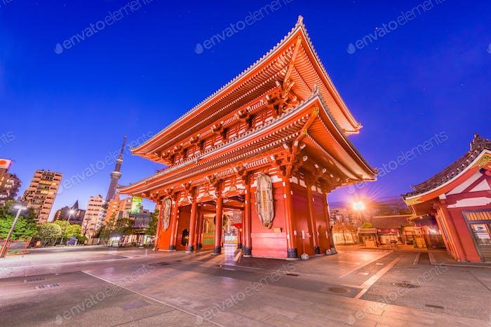 Asakusa, Tokyo, Japan Temple