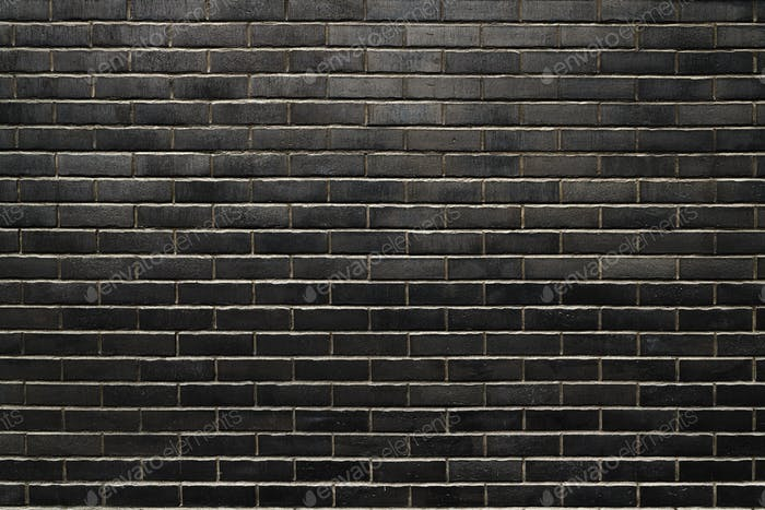 Black brick wall texture as background