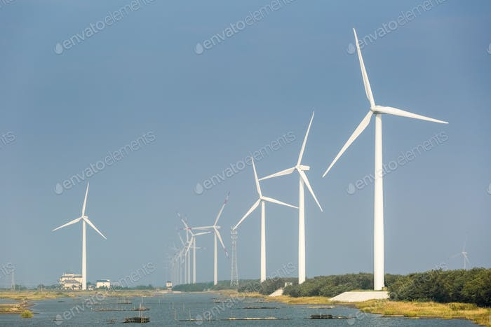 wind farms on the coast