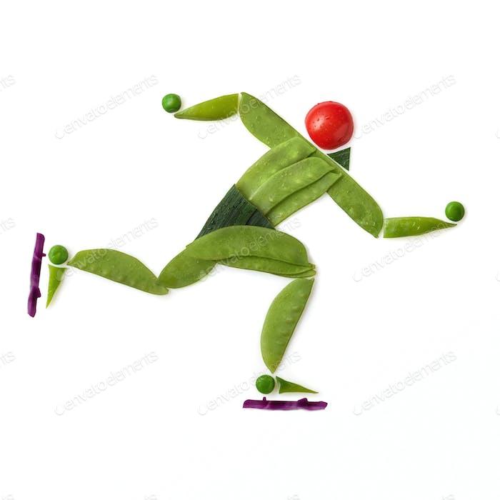 Speed skating.