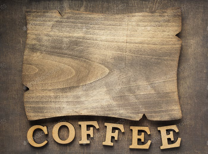 coffee letters and signboard