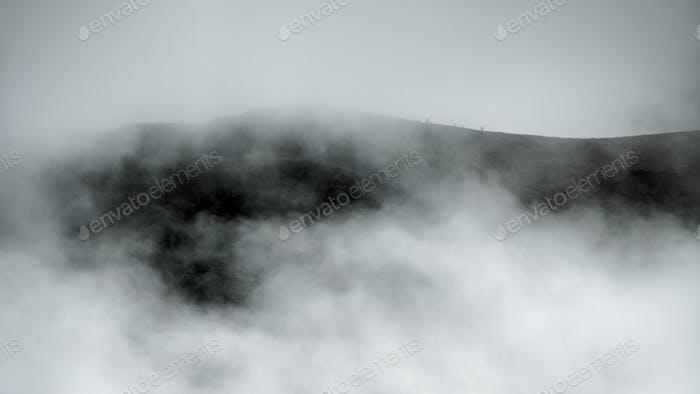 Misty Dolomites bw