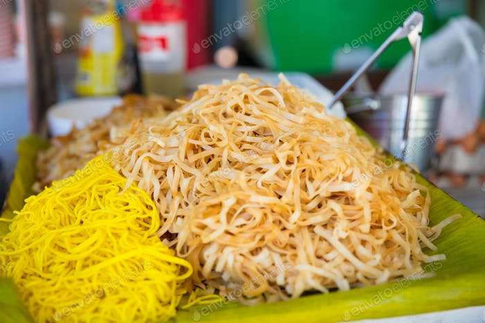Noodles At Market Stall