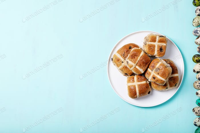 Traditional Easter treats cross buns