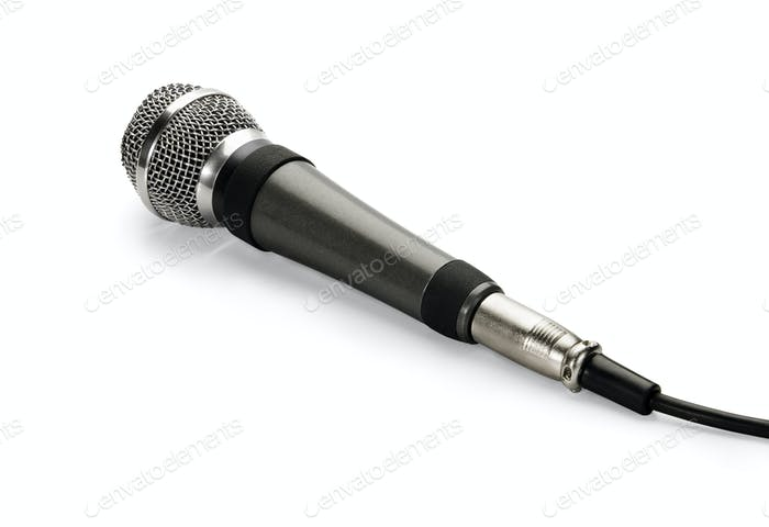 Microphone, isolated on white background