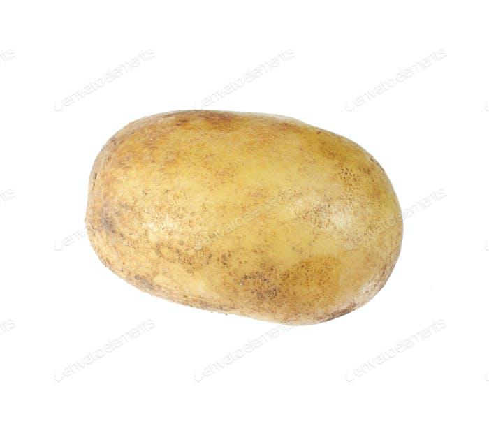 Kartoffel isoliert auf weißem Hintergrund Nahaufnahme