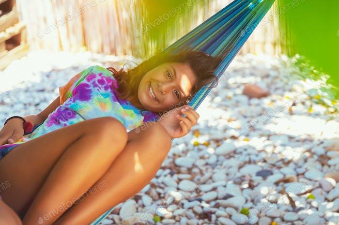 Little girl on summer holidays