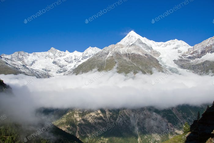 Clouds in the Zermatt valley