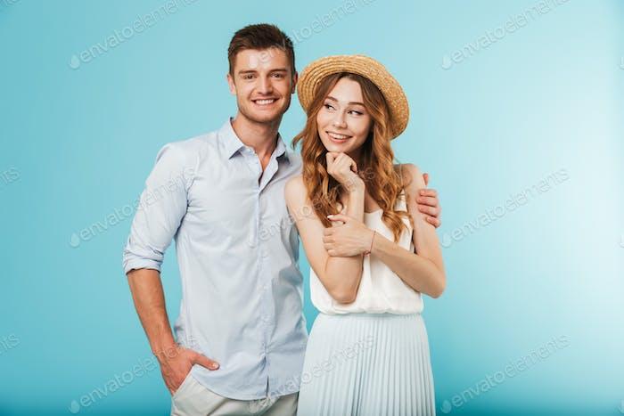 Glückliche kaukasische Menschen Mann und Frau