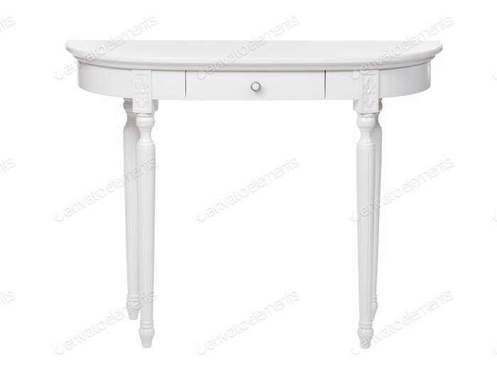 Elegant dressing table isolated over white
