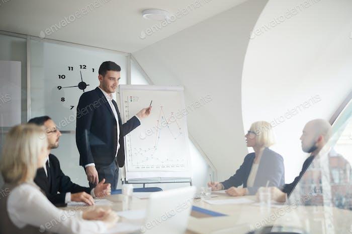 Discussing financial statistics