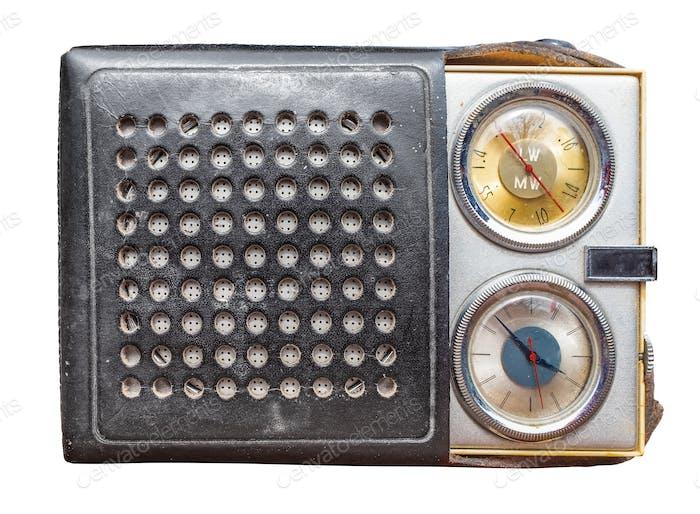 Isolierter Vintage-Radiowecker