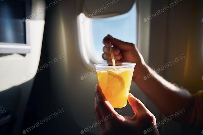 Dring during flight