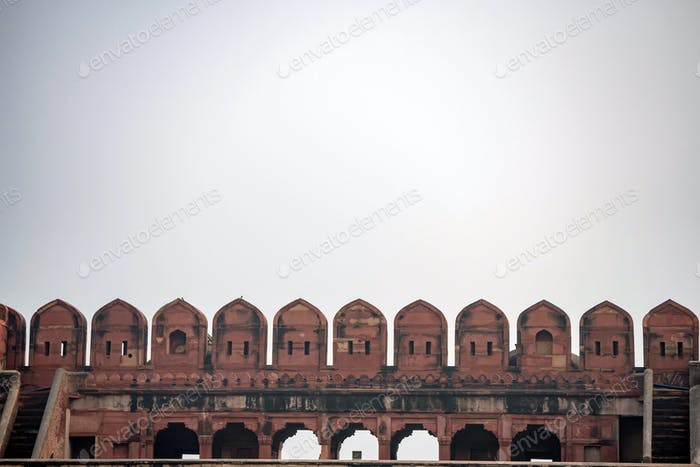 Battlement of Fort of Agra