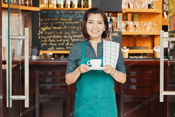 Coffeeshop waitress