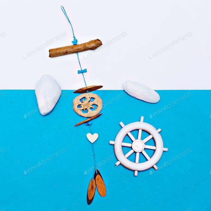 Set Souvenir Sea style Minimal art
