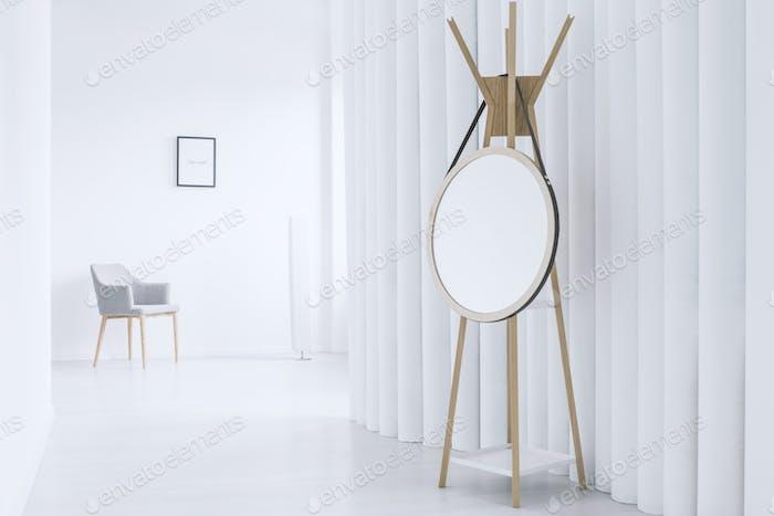 Interior with mirror on hanger