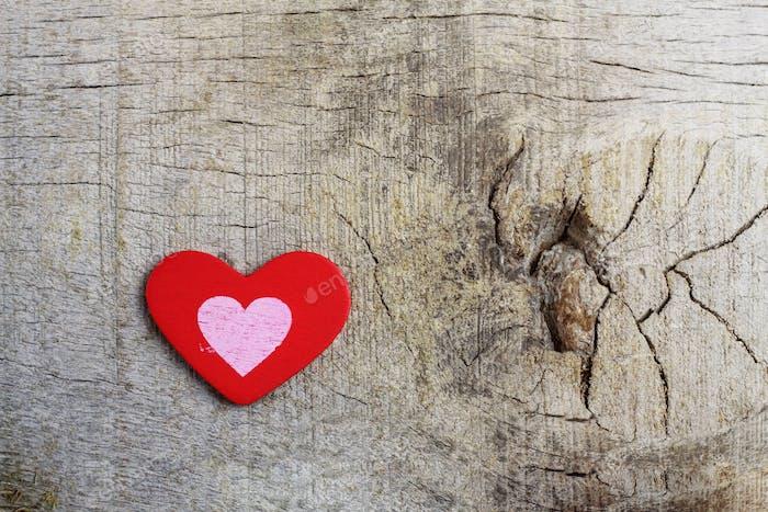 Red heart on floor