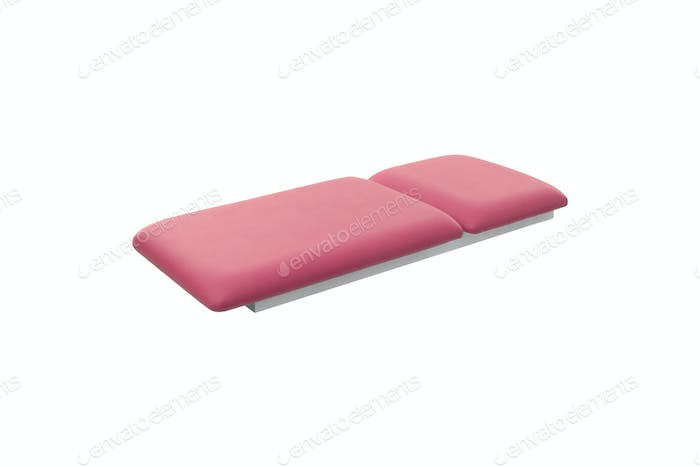 massage bed isolated