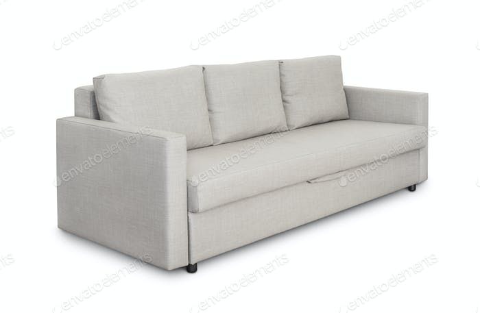 Three seats cozy grey sofa