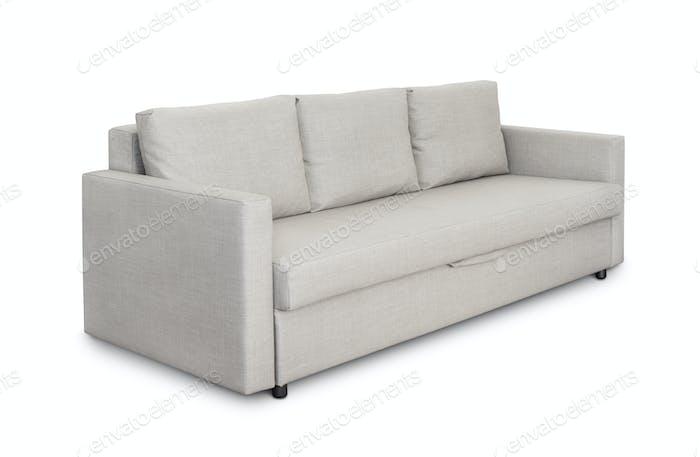 Three seats cozy grey sofa