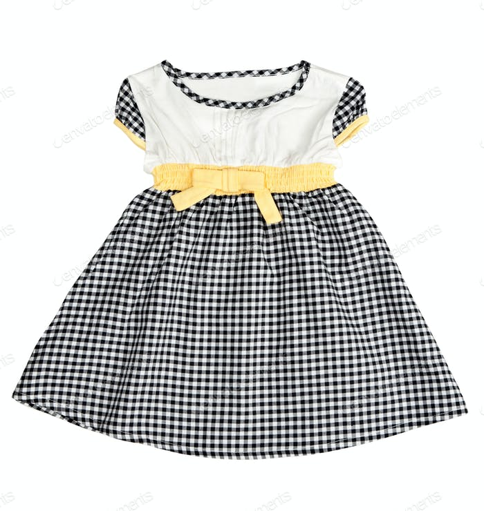 Children's checkered dress