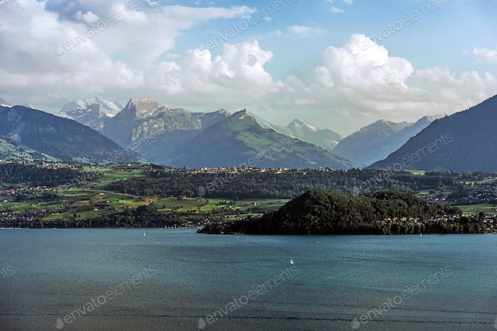 Lake Thun in Switzerland