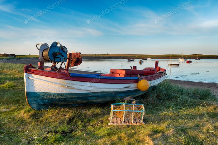 Fishing Boat at Holy Island